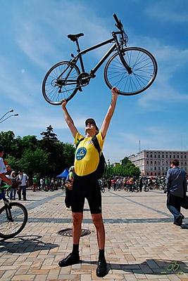 на велосипеде по Киеву